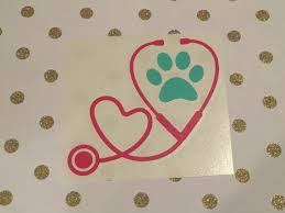 Vet Tech Decal Paw Print Stethoscope Decal Veterinarian Decal Car Decal Vet Tech Car Decal Paw Print D Paw Print Decal Vet Tech Tattoo Vet Tech Gifts