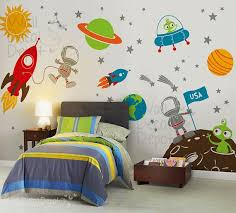 Space Wall Decal Planets Astronaut Boy Galaxy Por Walldecaldepot Space Themed Room Boys Bedroom Decor Kid Room Decor