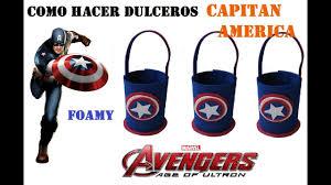 Como Hacer Dulceros Capitan America Avengers Vengadores Youtube