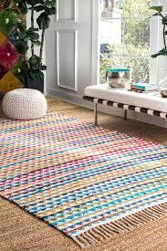 Calypso Rainbow Striped Triangles Mosaic Multi Rug Rugs Kids Room Rug Bright Kids Room