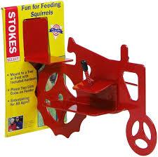 Amazon Com Stokes Select Tractor Cob Squirrel Feeder Red 2 Corn Cob Capacity Squirrel Feeders Garden Outdoor