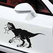 Man Eating Dinosaur Car Stickers Animals Vinyl Adhesive Paper Window Decals Waterproof Home Decor Wall Sticker Wish