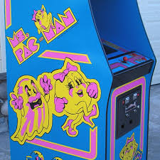Ms Pac Man 3 Piece Decal Set Left Right And Front Phoenix Arcade 1 Source For Screen Printed Arcade Artwork