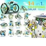 14 in 1 Assembly Solar Power Car Robot Kit Kid Educational