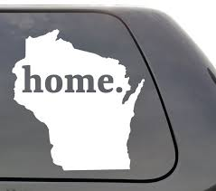 Wisconsin Decal Wisconsin Wi Decal Home State Decal State Etsy