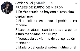 """Resultado de imagen para JAVIER MILEI FRASES"""""""