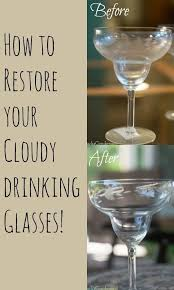 how to clean cloudy glasses
