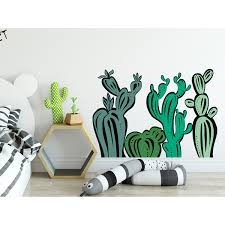 Shop Eco Friendly Handdrawn Style Cactus Wall Decal Kids Overstock 32066984