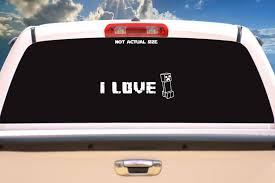 I Love Creepers Vehicle Decal Etsy