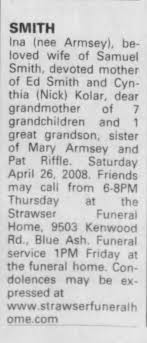 Obituary for Ina SMITH - Newspapers.com