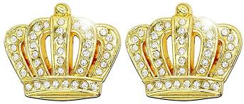 Amazon Com Bling Car Decoration 3d Decal Sticker Crystal Crown Car Emblem Exterior Interior Accessory 2 Pack 3d Crown Small Gold Arts Crafts Sewing