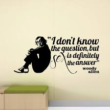 Woody Allen Quote Wall Decal Sex Decor Sign Bedroom Decor Poster Vinyl Sticker Home Living Room Decoration Accessories X458 Wall Stickers Aliexpress
