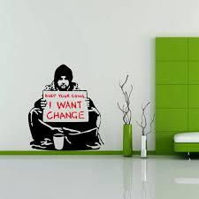 Free Shipping Geekery Banksy Art Vinyl Decal Sticker Suitable For Wall Car Window Keep Your Coins Beggar Homeless A2062 Sticker Design Stickers Ducksticker Honda Aliexpress