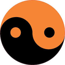 5in X 5in Orange And Black Yin Yang Sticker Vinyl Vehicle Decal Stickers Stickertalk