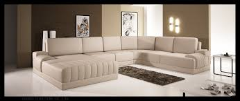 5025 modern beige leather sectional sofa
