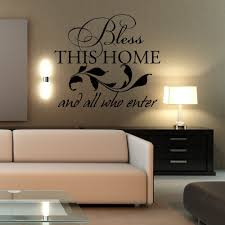Living Room Wall Decal Bless This Home And All Who Enter Home Family Blessing Prayer Vinyl Wall Sticker 46 X 40 M Vinyl Wall Stickers Wall Stickerwall Decals Aliexpress