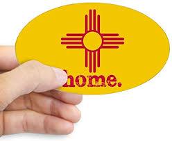 Amazon Com Cafepress New Mexico Zia Symbol Yellow Oval Bumper Sticker Euro Oval Car Decal Home Kitchen