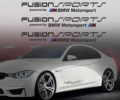 Product Fusion Sports Powered By Bmw M Motorsport Vinyl Decal Sticker E36 M3 M5 M6 M Any
