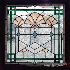 art deco stained glass window designs
