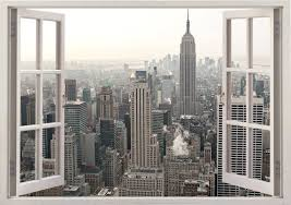 New York Wall Sticker 3d Window New York Wall Decal Ny For Etsy