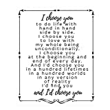 Amazon Com Vinyl Quote Me I D Choose You In A Hundred Worlds In Any Version Of Reality I D Find You And I D Choose You Home Decor Stickers Home Kitchen