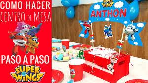 Centro De Mesa Decorar Cumpleanos Super Wings Super Wings