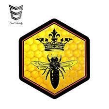 Earlfamily 12cm X 10 6cm Queen Bee Decal Sticker Beekeeping Skep Beehive Honey Crown Vinyl Decal 3d Car Styling Car Stickers Car Stickers Aliexpress
