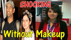 indian cricketers without makeup