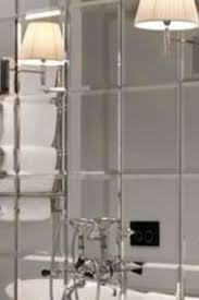 6 x mirrored square wall tiles