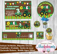 Invitacion De Cumpleanos Tractor Kit Imprimelo Tu 69 00 En