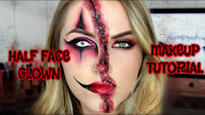 half face clown makeup