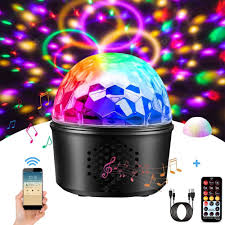 Disco Ball Lamp With Bluetooth Speaker Party Lights 9 Colors Dj Stage Light Night Lamp With Remote Control For Kids Bedroom Wedding Birthday Bar Club Sale Price Reviews Gearbest