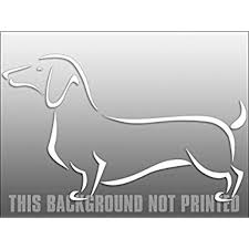 White Vinyl Fancy Abstract Dachshund Sticker Decal Dach Dog Window Decal Size 5 X 8 Inch Walmart Com Walmart Com