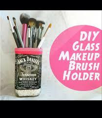 diy gl makeup brush holder by