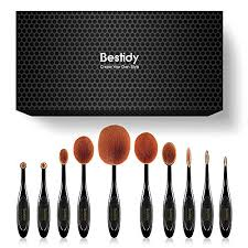professional soft oval makeup brushes