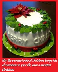 merry christmas cake wishes messages sayings