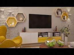 mounting tv on wall decorating ideas