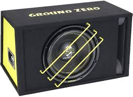 Subwoofer Ground Zero GZRB 30SPL in cassa reflex Potenza 1350 Watt sub auto  BOX: Amazon.it: Elettronica