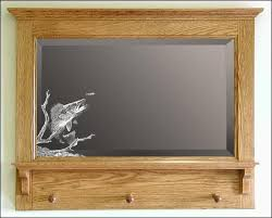 fishing themed mirrors etched