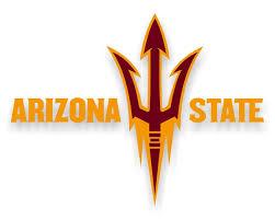 Asu Arizona State Sun Devils Letters Fork Style B Vinyl D
