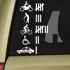 Accident Hit Kill Count Funny Bumper From Skyhawkstickerdepot