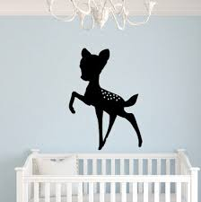 Harriet Bee Risher Baby Deer Fawn Silhouette Wall Decal Wayfair