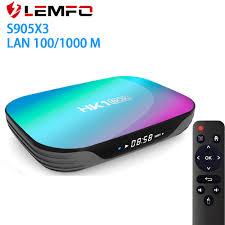 LEMFO 9.0 Android TV Box 4GB RAM 64GB 32GB 8K 2.4G5G WiFi Support IPTV  Google Youtube Media Player S905X3 Set Top Box|Set-top Boxes