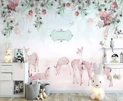 Amazon Com Murwall Nursery Wallpaper Zebra Wall Mural Floral Garden Wall Art Vintage Flower Wall Decor Baby Room Play Room Children Rooms Kids Room Handmade