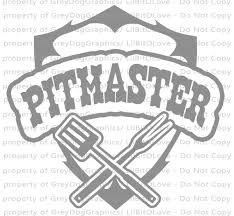 Pitmaster Bbq Shield Barbecue Vinyl Decal Grilling Smoker Etsy