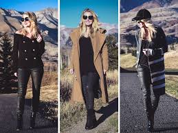 faux leather pants three ways to wear