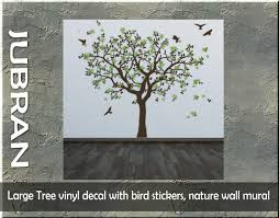 Second Life Marketplace Large Tree Vinyl Decal With Bird Stickers Nature Wall Mural
