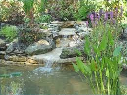 waterfall in the garden self build