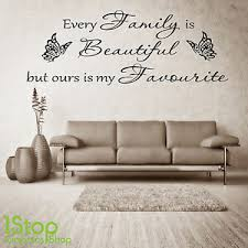 Family Beautiful Wall Sticker Quote Bedroom Lounge Wall Art Decal X385 Ebay