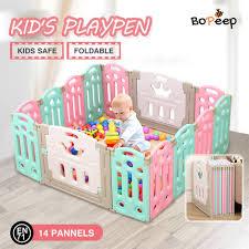 Buy Bopeep Kids Playpen Baby Safety Gates Kid Play Pen Fence Room 14 Panels Graysonline Australia